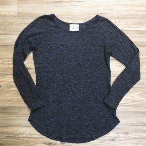 Pen & Paper Long-Sleeve Textured Burnout Shirt